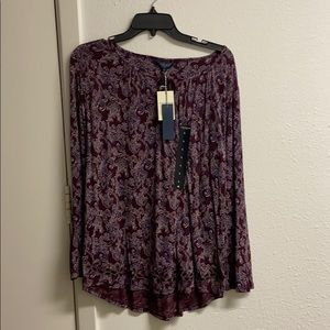 NWT Cute Lucky Brand Shirt Top with Lace